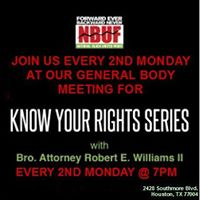 Know Your Rights Series (Every 2nd Monday)