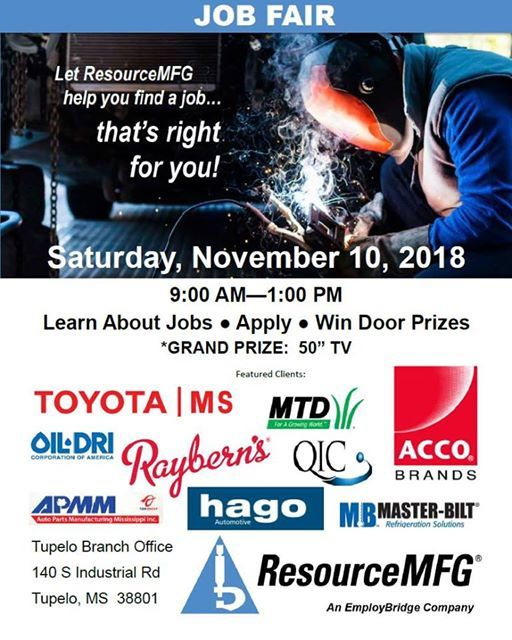 Job Fair at ResourceMFG (Tupelo, MS), Tupelo