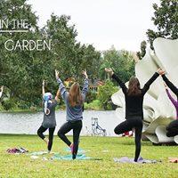 Yoga in the Mennello Museum Sculpture Garden