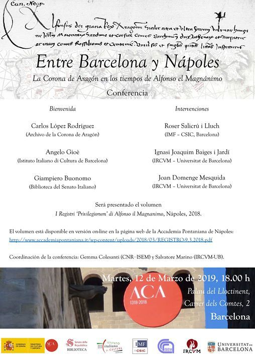Conference Between Barcelona and Naples. Viceroys Palace
