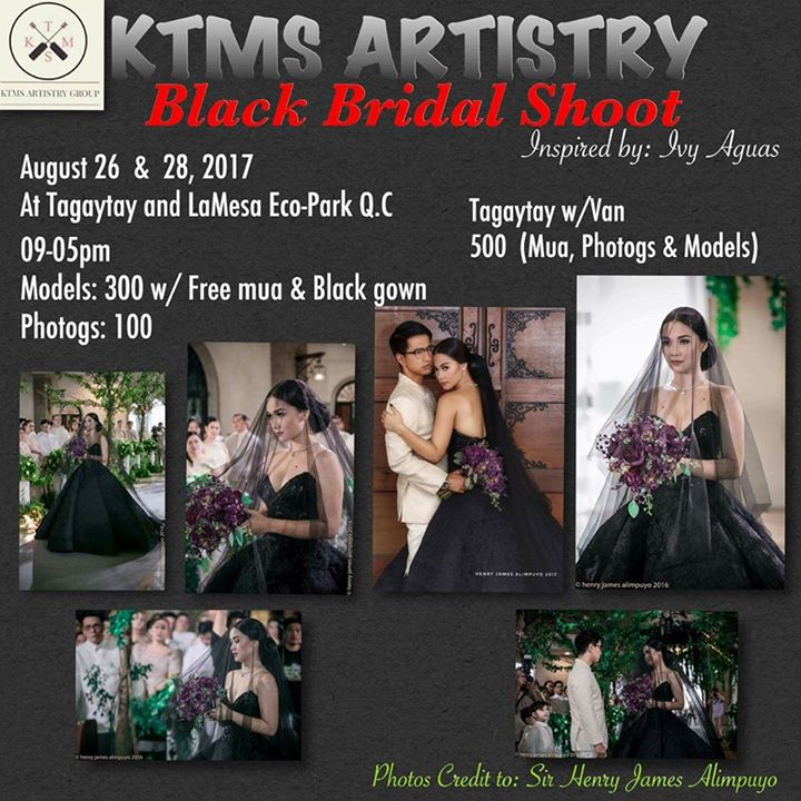 Black Bridal Gown Inspired By Ivy Aguas At Picnic Groove Tagaytay