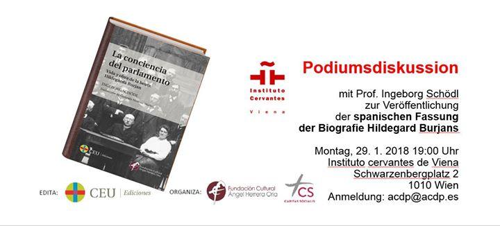 Podiumsdiskussion Spanische Fassung Biografie Hildegard Burjans At