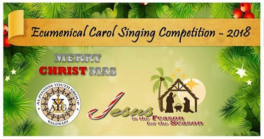 Ecumenical Carol Singing Competition 2018