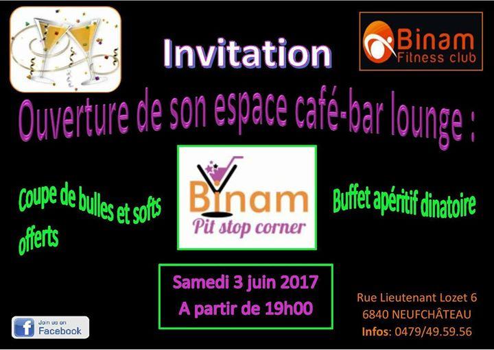 Inauguration Du Pit Stop Corner At Binam Fitness Neufchateau