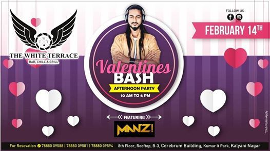 14th Feb - Valentines Bash Afternoon Party