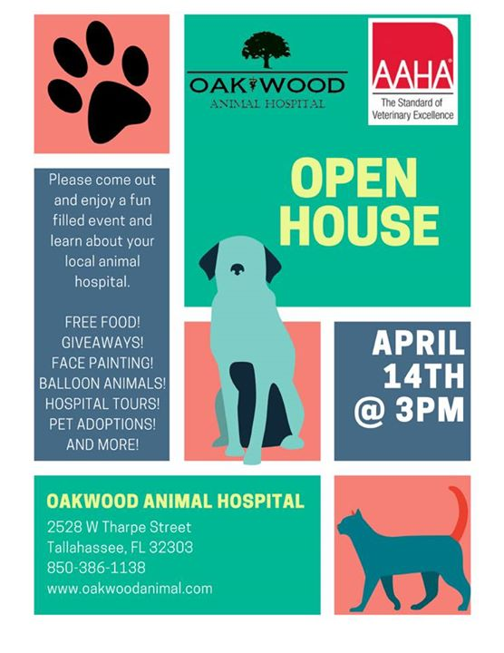 Animal hospital open house giveaways