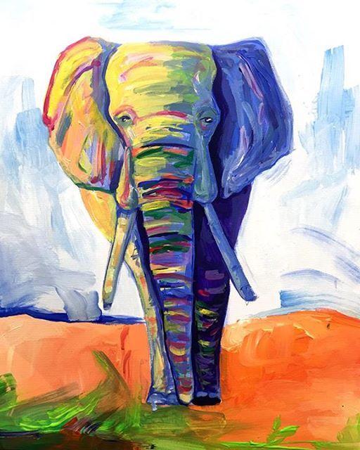ArtMasters - PAINT PARTY - Majestic Elephant