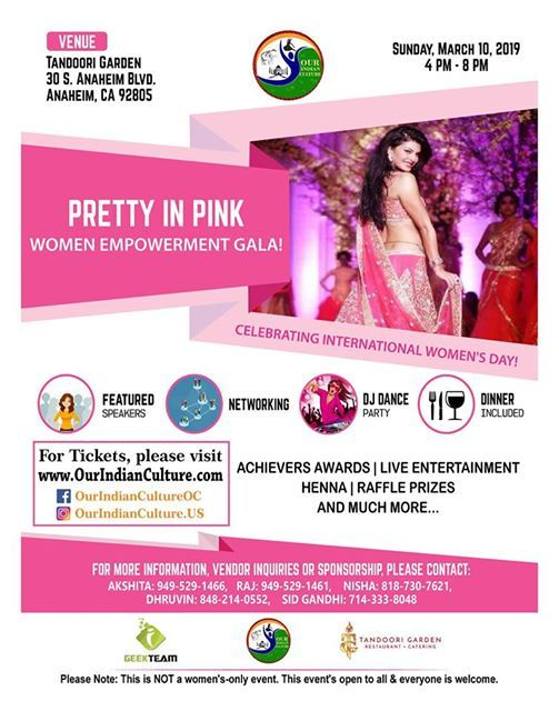 Pretty In Pink-Women Empowerment Gala Celebrating Womens Day