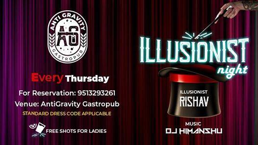 Enjoy Illusionist with DJ Night