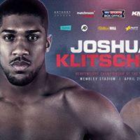 LIVE Boxing Anthony Joshua v Wladimir Klitschko