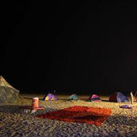 Manjhar Beach Camping ll Bonefire ll Music