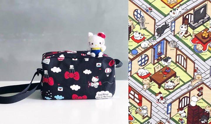 Neko Atsume Zipper Sling Bag Workshop 1.0 (Full)
