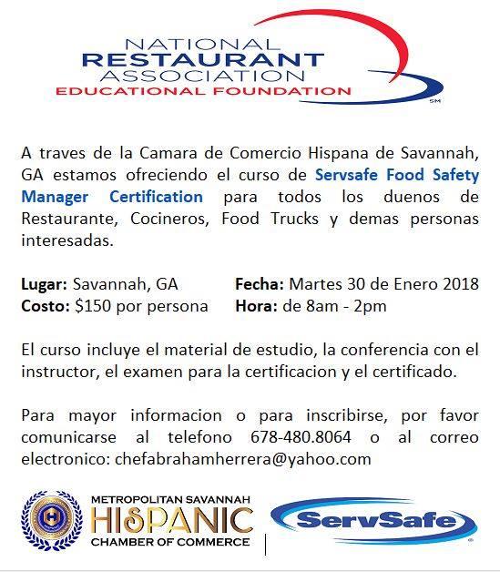 Servsafe Food Safety Manager Certification English Spanish At