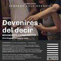 Seminario de Movimiento y Composicin &quotDevenires del Decir&quot