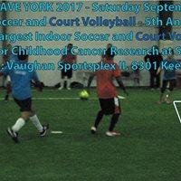 Heatwave York for SickKids Sat Sept 23 Indoor Soccer Volleyball
