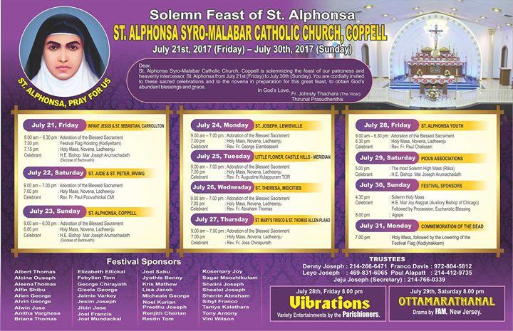 St. Alphonsa Catholic Church Coppell Perunnal