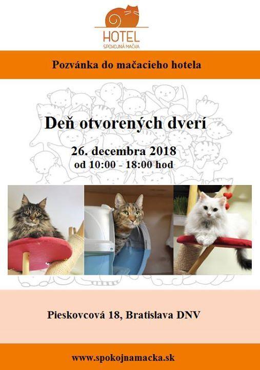 Deň otvorených dverí at Hotel pre mačky - Spokojná mačkaPieskovcova ... 525519f1f46