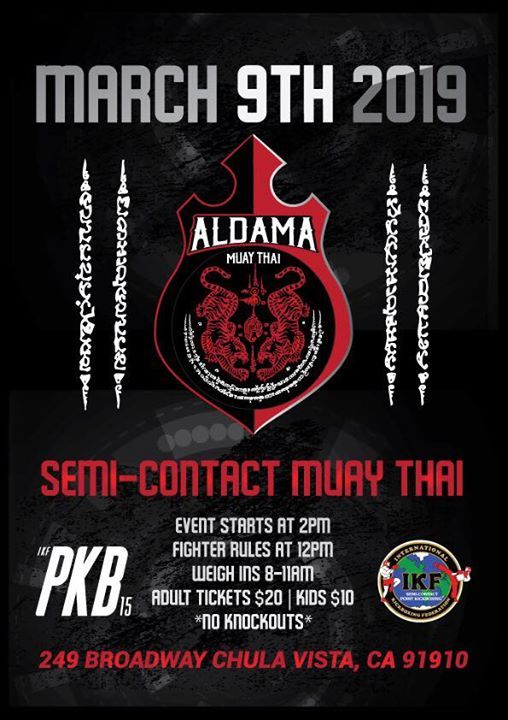 Ikf Pkb 15 At Aldama Muay Thai249 Broadway Chula Vista California