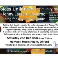 Voices Unlimited sing for Asylum Welcome