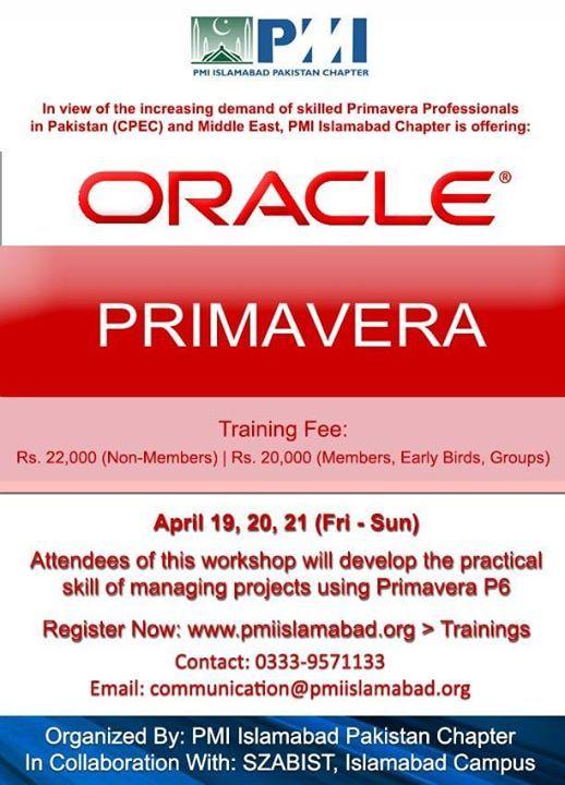Primavera P6 Training Workshop