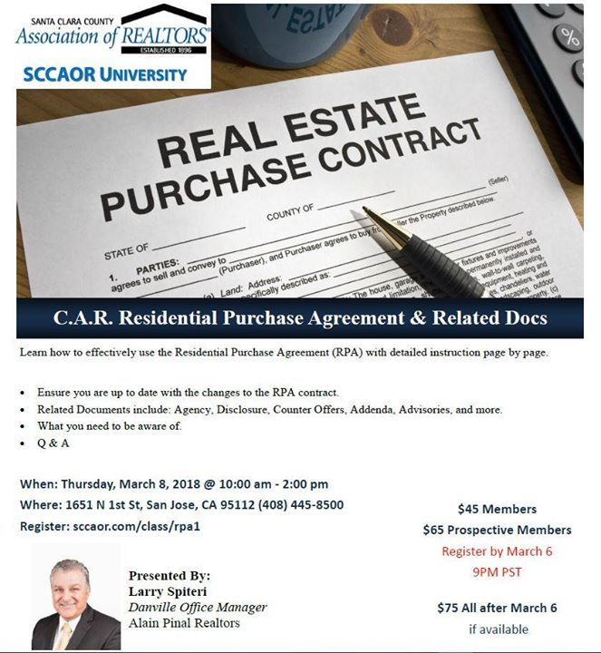 Car Residential Purchase Agreement Related Docs At Santa Clara