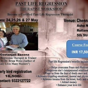 Past Life Regression Therapist Workshop by Dr Geetanjali Saxena
