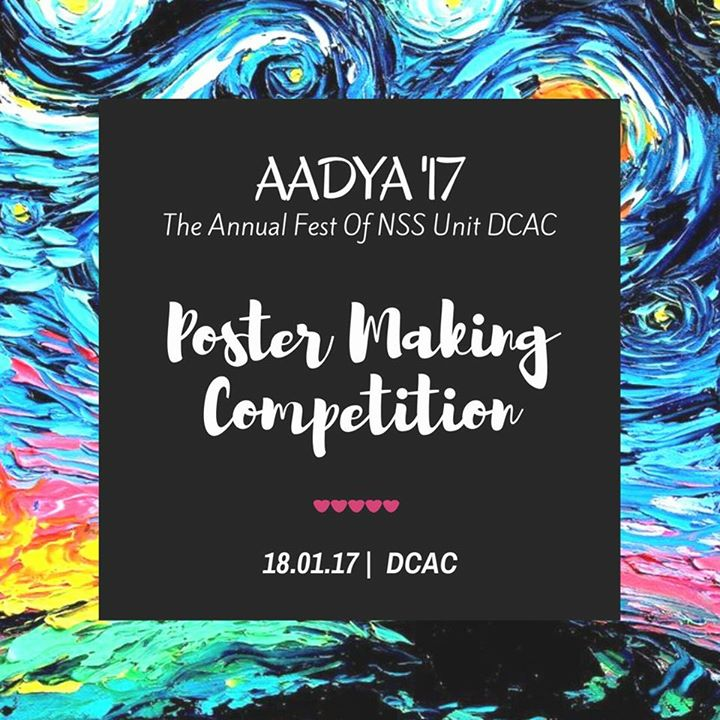 Aadya17- Poster Making Competition