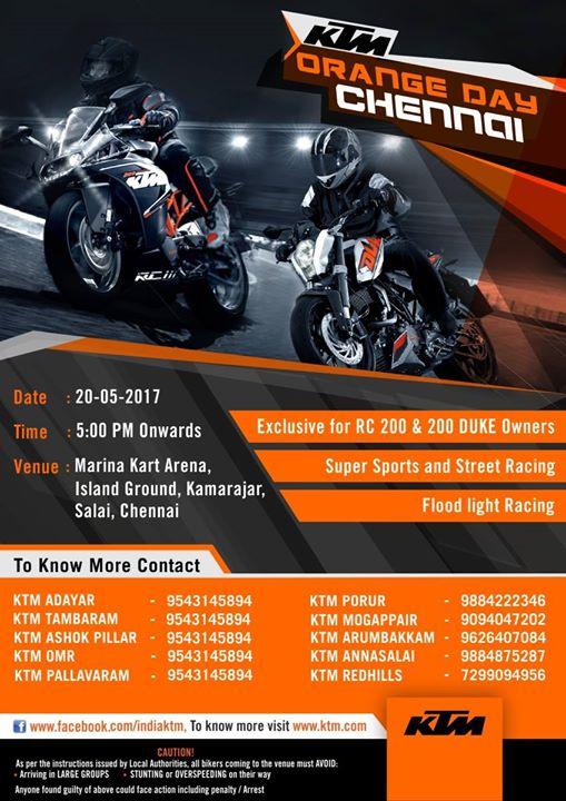 Ktm Orange Day Chennai V6 At Marina Kart Arena Chennai