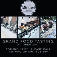 Minced Manila  Grand Food Tasting