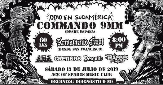 Odio en Sudamrica Commando 9mm en Bogot