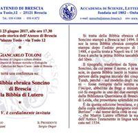 Conferenza del prof. Giancarlo Toloni