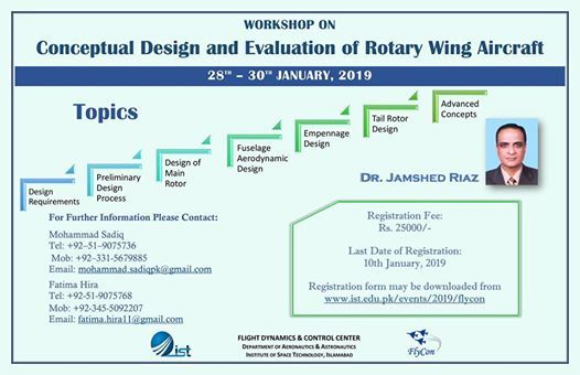 Workshop-Conceptual Design & Evaluation of Rotary Wing Aircraft