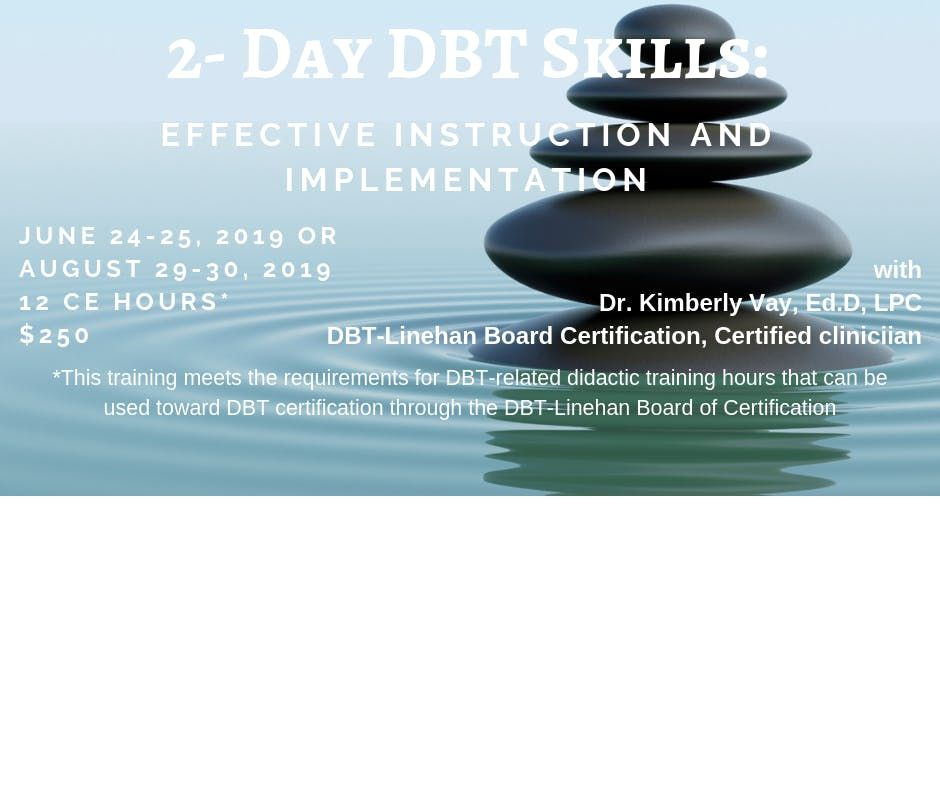2-Day DBT Skills Effective Instruction and Implementation
