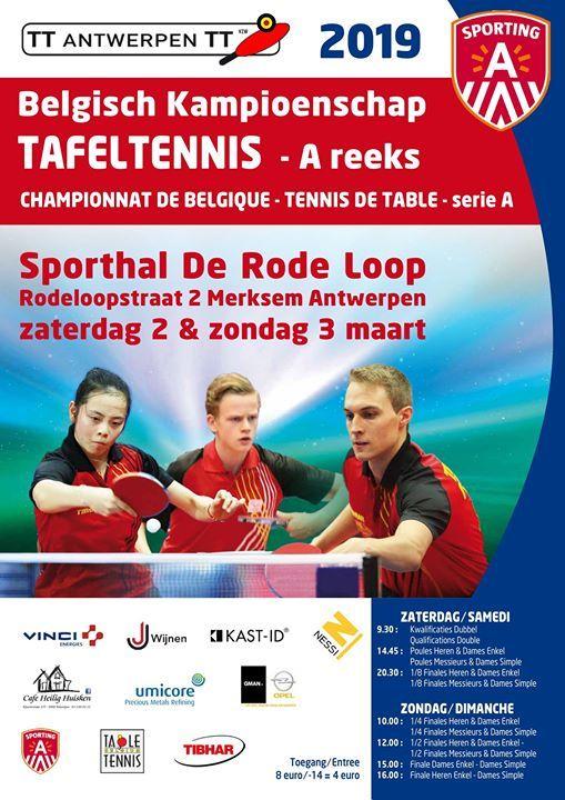 Belgisch Kampioenschap Tafeltennis - A reeks