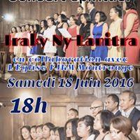Concert de la chorale Iraky Ny Lanitra  Montrouge le Samedi 18 Juin 2016