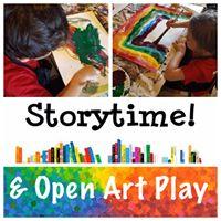 Storytime &amp Open Art Play
