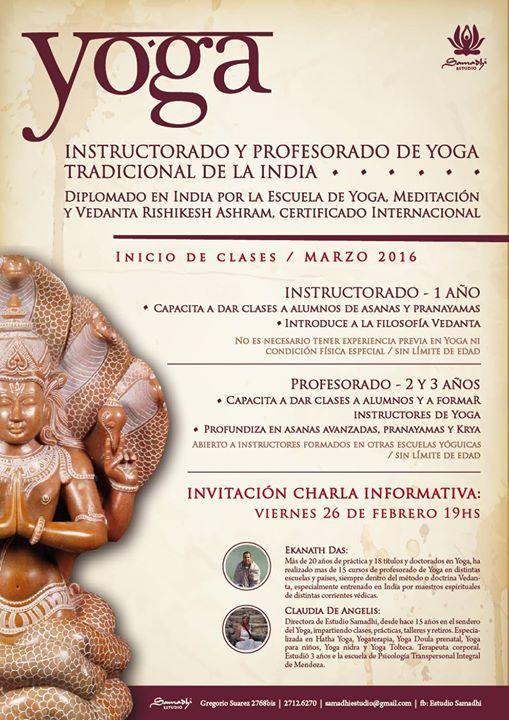 Instructorado y Profesorado de Yoga Tradicional de la India. at ... fbdb30a820b2