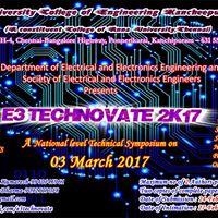 SEEE presents a National Level Technical Symposium E3 Technovate 2k17