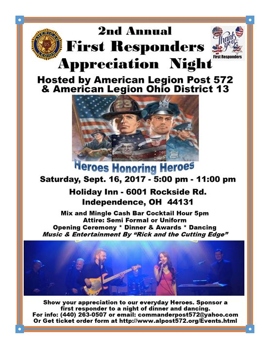 2nd Annual First Responders Appreciation Night