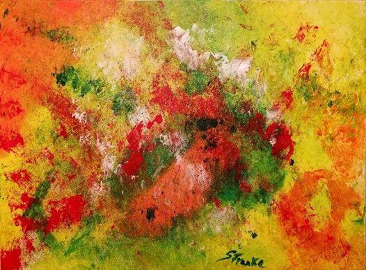 ArtNight Abstrakt Grn Rot am 02042019 in Augsburg