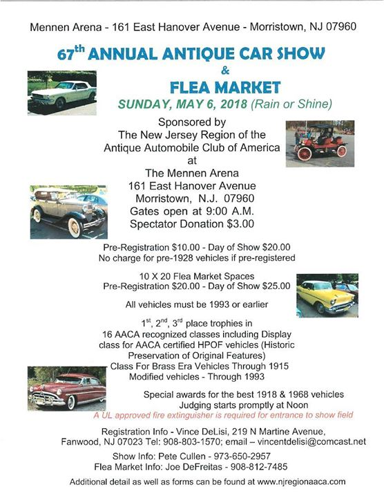 Th Annual Antique Car Show And Flea Market At The Mennen Arena - Car shows in nj