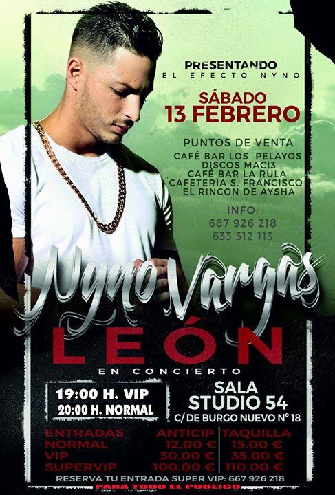 Nyno vargas at studio 54 leon le n for Studio 54 oviedo