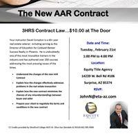 New AAR Contract class