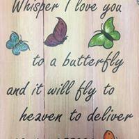 Butterfly in heaven board art class