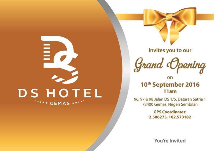 Grand Opening Ceremony at DS Hotel Gemas, Gemas