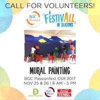 BGC Passionfest CSR 2017 - Community Mural Painting