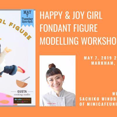 Happy & Joy Girl Fondant Figure Modelling Workshop with Sachiko