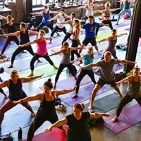 Wine  Yoga at the Columbia Tower Club