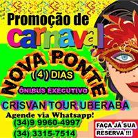 Carnaval Nova Ponte (4) Dias Na Prainha Onibus Exec. Saindo UBA