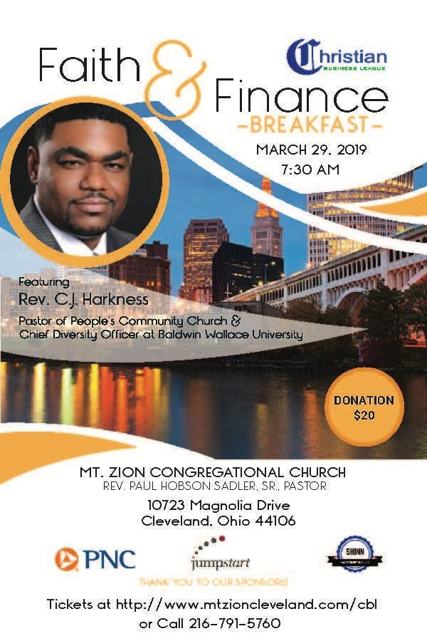 Faith and Finance Breakfast with Rev. C. J. Harkness